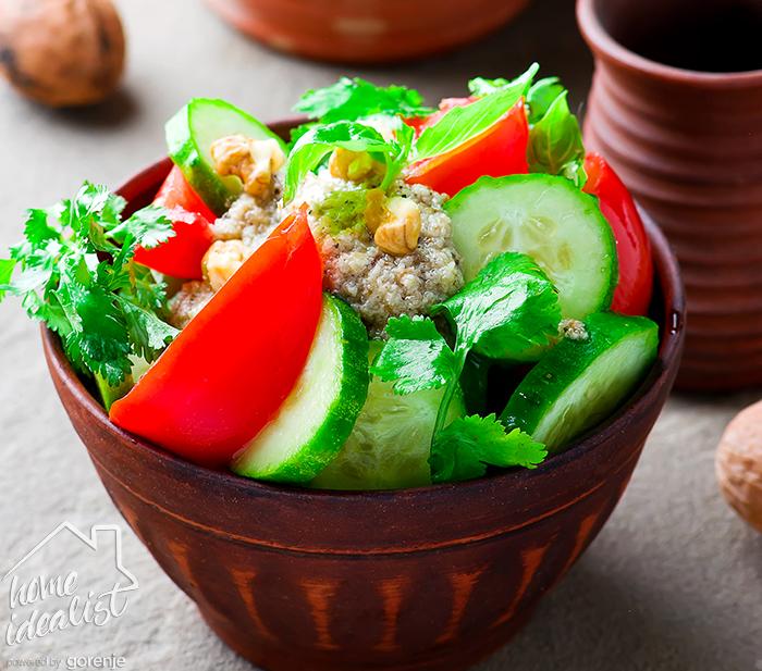 Овощной салат с ореховой заправкой_water!!