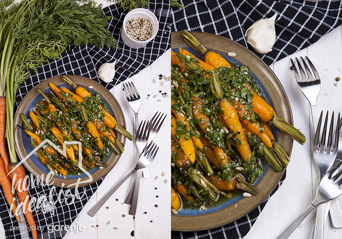 Марокканский салат на гриле